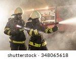 Firefighters In Action Battlin...
