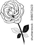 a black and white illustration... | Shutterstock .eps vector #348072623