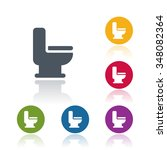 toilet icon | Shutterstock .eps vector #348082364