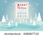 merry christmas. vector | Shutterstock .eps vector #348087710