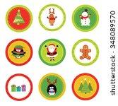 christmas labels   Shutterstock .eps vector #348089570