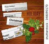 vector creative  christmas... | Shutterstock .eps vector #348090170