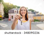 real estate. happy broker.... | Shutterstock . vector #348090236