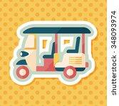 three wheeled motor rickshaw ...   Shutterstock .eps vector #348093974
