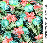 a seamless pattern with the... | Shutterstock . vector #348094058