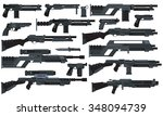 futuristic sci fi weapons | Shutterstock .eps vector #348094739