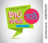 big sale vector banner. paper ... | Shutterstock .eps vector #348098204