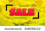 sale background. special offer. ... | Shutterstock .eps vector #348098210