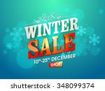 shiny snowflakes decorated... | Shutterstock .eps vector #348099374