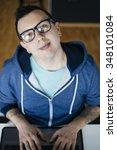 freelancer working from home   Shutterstock . vector #348101084