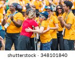 Small photo of TORONTO,JULY 25,2015: Toronto 2015 Pan Am and Parapan Am Games volunteers are honored by the city at Nathan Phillips Square.The Mayor recognizes the vital help the volunteers gave the event success.