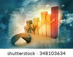 3d business graph with pie on... | Shutterstock . vector #348103634