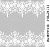 seamless lace pattern  flower... | Shutterstock .eps vector #348106763