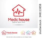 medic house logo template... | Shutterstock .eps vector #348113858