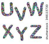 the alphabet letter u v w x y z ... | Shutterstock .eps vector #348115730