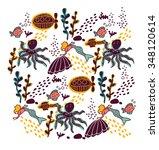 underwater sealife animal color.... | Shutterstock .eps vector #348120614
