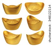 collection of chinese gold... | Shutterstock . vector #348122114