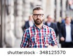 young handsome man in the... | Shutterstock . vector #348125570