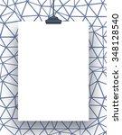 one hanged rectangular frame... | Shutterstock . vector #348128540