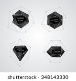 abstract crystal templates... | Shutterstock .eps vector #348143330