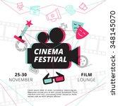 cinema festival poster with... | Shutterstock .eps vector #348145070