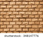 the yellow bricks background... | Shutterstock . vector #348147776