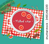 mulled wine  vector graphics | Shutterstock .eps vector #348148100