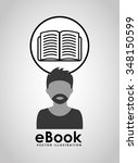 e book concept design  vector... | Shutterstock .eps vector #348150599