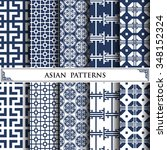 asian vector pattern pattern... | Shutterstock .eps vector #348152324