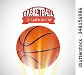 basketball league design ... | Shutterstock .eps vector #348156986