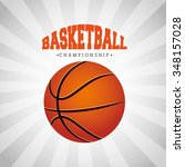 basketball league design ... | Shutterstock .eps vector #348157028