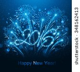 new year fireworks and confetti ... | Shutterstock .eps vector #348162413