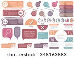 infographic elements   timeline ... | Shutterstock .eps vector #348163883