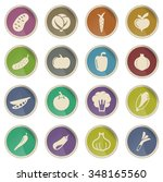 vegetables label icons for web | Shutterstock .eps vector #348165560