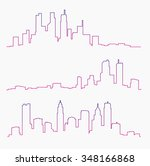 big city skylines | Shutterstock .eps vector #348166868