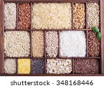 variety of healthy grains and... | Shutterstock . vector #348168446