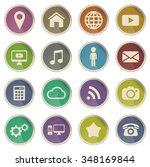 social media label icons for web | Shutterstock .eps vector #348169844