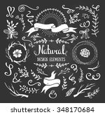 vintage graphic set of flowers  ... | Shutterstock .eps vector #348170684