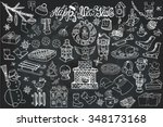 new year season doodle set... | Shutterstock .eps vector #348173168