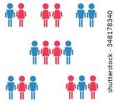 set of heterosexual  homosexual ... | Shutterstock .eps vector #348178340