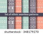 set of six ethnic seamless...