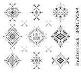 aztec elements. tribal... | Shutterstock .eps vector #348179294