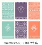 set of cards  ethnic design.... | Shutterstock .eps vector #348179516