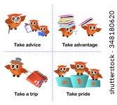 set of take activities  how to... | Shutterstock .eps vector #348180620