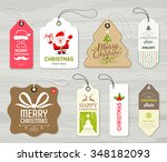 colorful label paper merry... | Shutterstock .eps vector #348182093