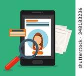 people profile graphic design ...   Shutterstock .eps vector #348183236