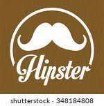 hipster retro and vintage style ... | Shutterstock .eps vector #348184808
