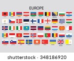 europe flag collection | Shutterstock . vector #348186920