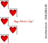 happy valentines day card | Shutterstock .eps vector #348188138