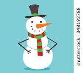 Snowman Vector Icon Flat Helper